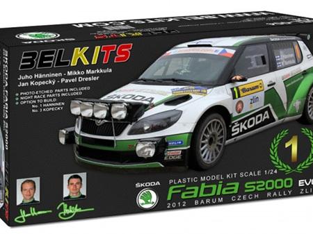 Belkits 1/24 SKODA Fabia S2000 EVO 2012 BARUM CZECH RALLY ZLIN