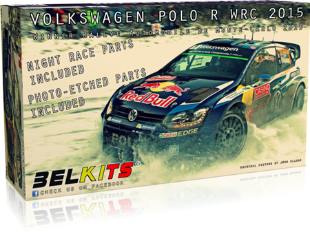 Belkits 1/24 Volkswagen Polo WRC 2015 Ogier - Latvala - Monte Carlo