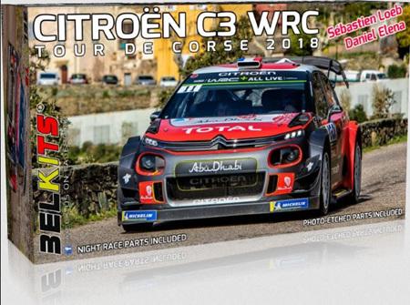 Belkits 1/24 Citroen C3 WRC 2018 Loeb/Elena (BEL017)