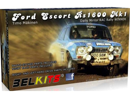 Belkits 1/24 Ford Escort RS1600 MKI Timo Makinen