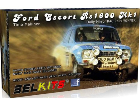 Belkits 1/24 Ford Escort RS1600 MKI Timo Makinen (BEL006)