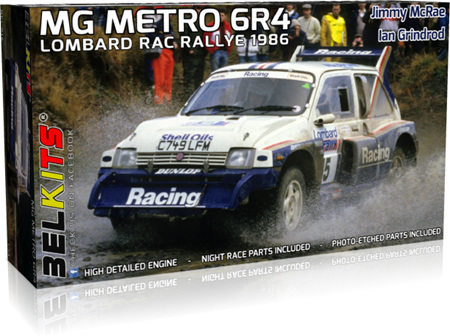 Belkits 1/24 MG Metro 6R4 RAC 1986 Jimmy McRae (BEL016)