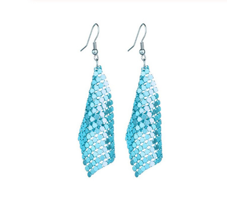 """Bella"" Sequined Drop Earrings"