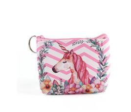 Bellas Pink & White  Unicorn Coin Purse