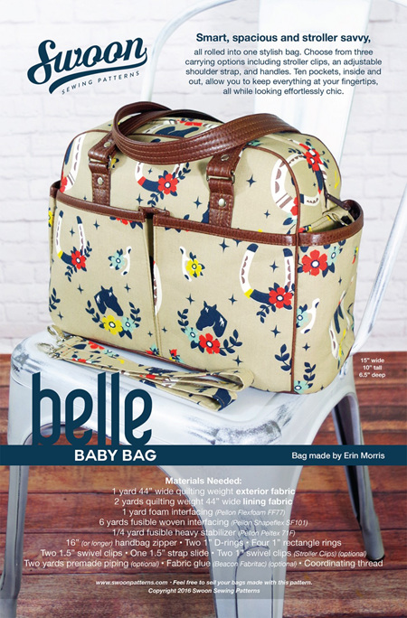 Belle Baby Bag from Swoon Sewing Patterns