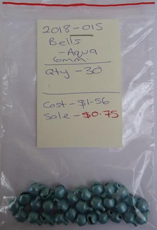 Bells - Aqua - 6mm