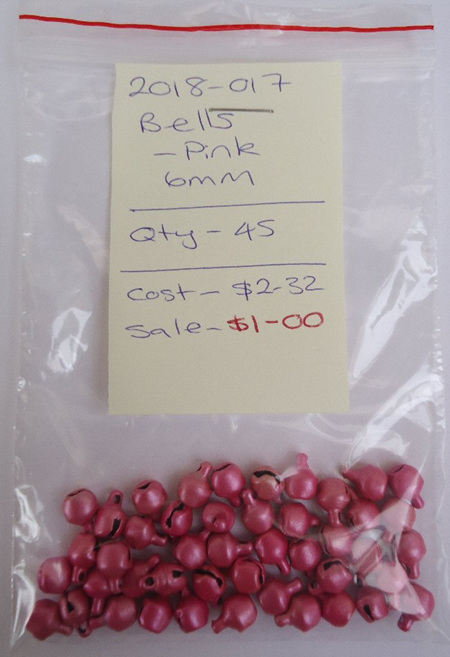 Bells - Pink - 6mm