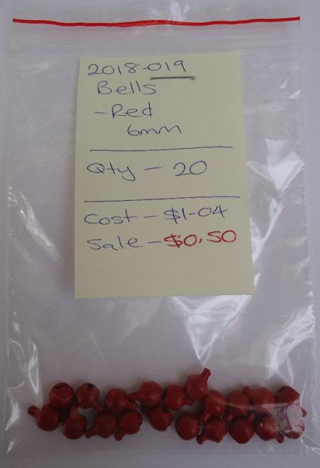 Bells - Red - 6mm