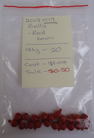 Bells - Red - 6mm