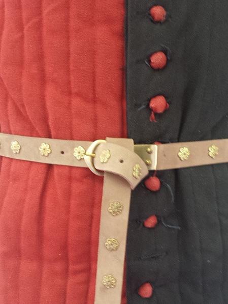 Belt 3 - Medieval Belt with Rosette  Fittings