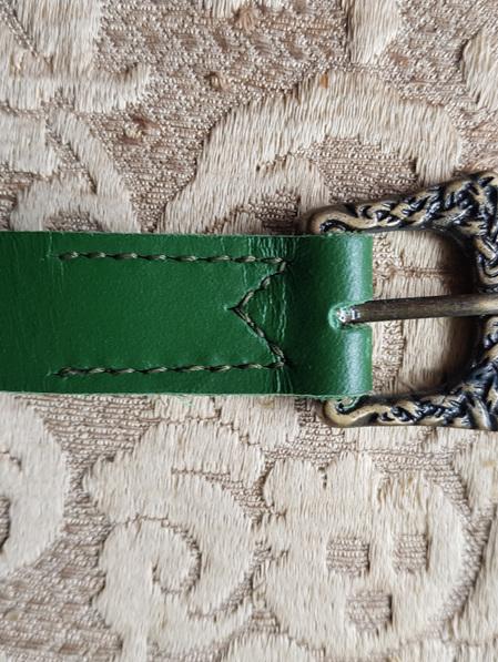 Belt 6 - Plain Green Viking / early Medieval Belt