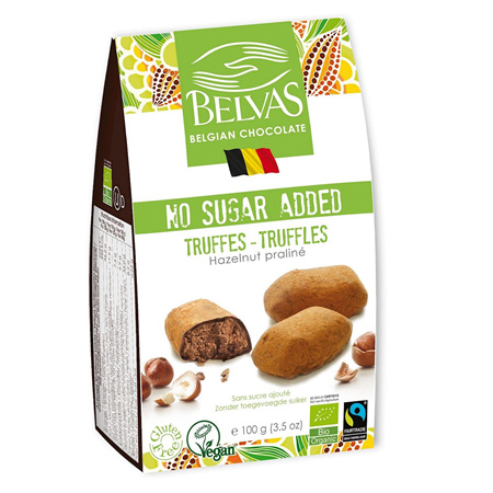 Belvas No Sugar Added Hazelnut Truffles