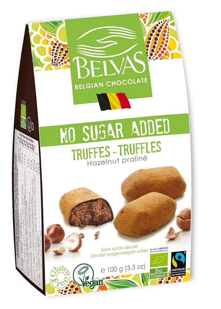 Belvas No Sugar Added Hazelnut Truffles