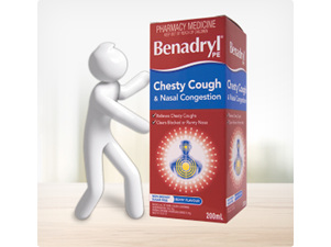 Benadryl Chesty Cough and Nasal Congestion