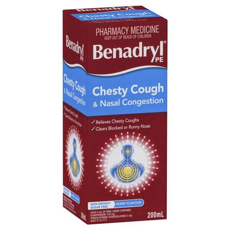 Benadryl Chesty Cough & Nasal Congestion