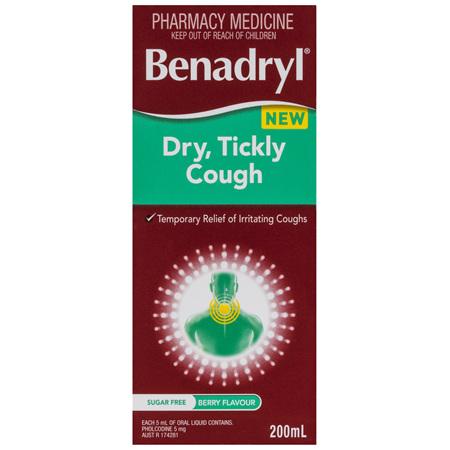 Benadryl Dry, Tickly Cough 200mL