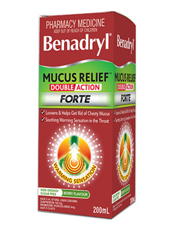 Benadryl Mucus Relief Double Action Forte Liquid 200ml