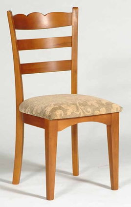 Ladderback Scallop Top Chair
