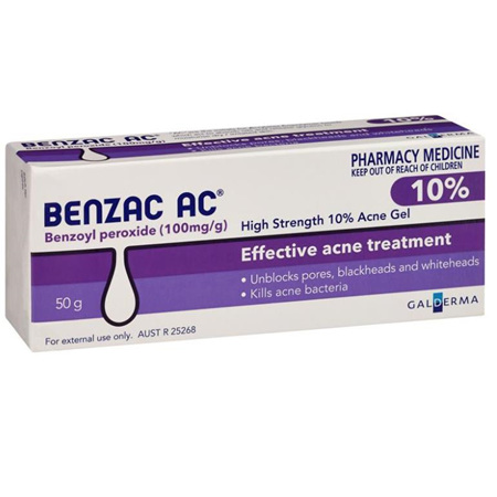 BENZAC AC GEL 10% 50G