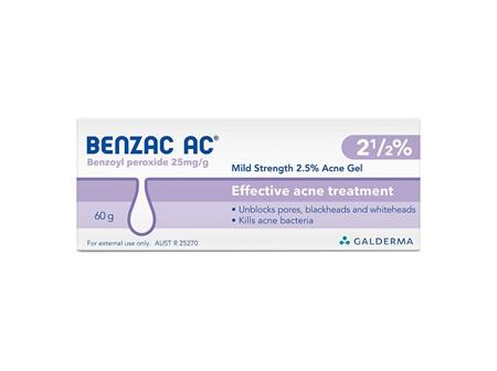 BENZAC AC Gel 2.5% 50g