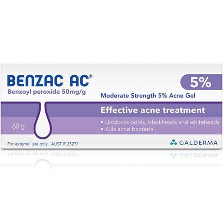 Benzac AC Moderate Strength 5% Acne Gel 60G