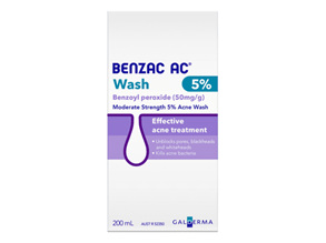 Benzac AC Moderate Strength 5% Wash 200mL