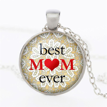 Best Mom Ever Necklace - SILVER CHAIN