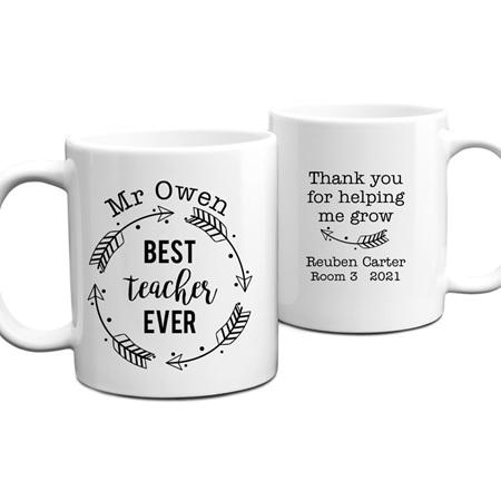 Best Teacher Ever 1 Personalised Mug