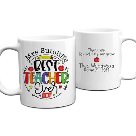 Best Teacher Ever 2 Personalised Mug