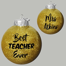 Best Teacher Ever Personalised Christmas Ornament