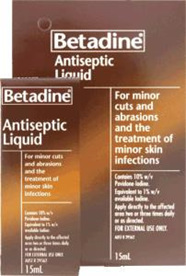 Betadine Antiseptic Liquid - 15ml