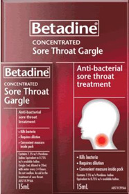 Betadine Concentrated Sore Throat Gargle - 15ml