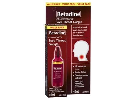 Betadine Sore Throat Gargle 40ML