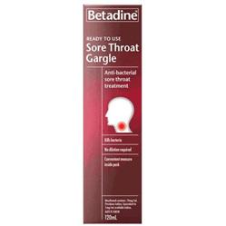 Betadine Throat Gargle Ready-to-use 120ml