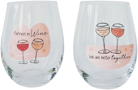 BETTER TOGETHER WINE GLASS DUO