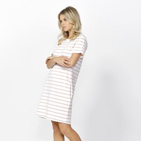 BETTY BASICS GWEN DRESS IN WHITE/BLUSH