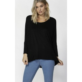 Betty Basics - Milan 3/4 sleeve top - Black