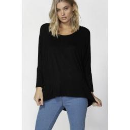 Betty Basics - Milan 3/4 sleeve top - Black