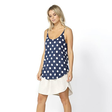 BETTY BASICS SAN DIEGO TWO WAY CAMI IN INK