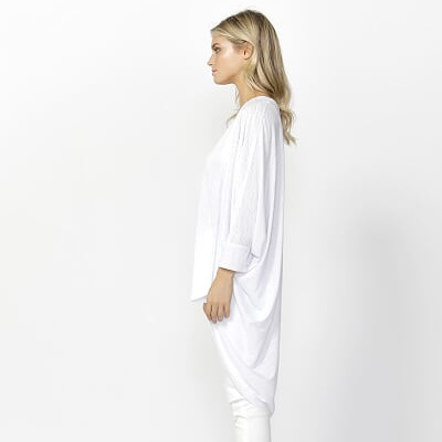 Betty Basics - Santorini Cardi - White