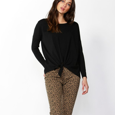 Betty Basics - Willow Knot Top - Black