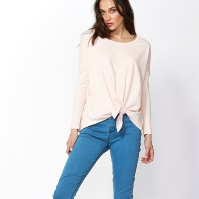 Betty Basics - Willow Knot Top - Blush