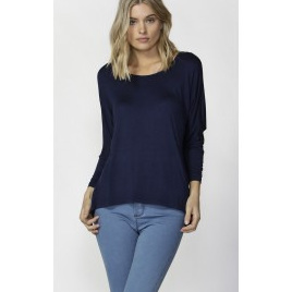 Betty Milan 3/4 Sleeve Top - Navy