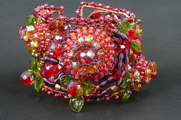 Betty Neve, Carmen Miranda Cuff, Fire Mountain Gems and Beads