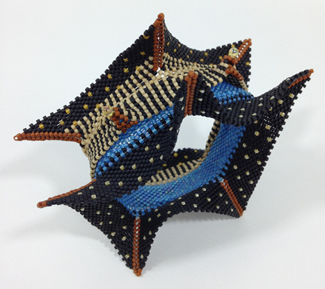Betty Neve, Contemporary Geometric Beadwork, Pagoda Bangle
