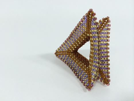 Betty Neve, Contemporary Geometric Beadwork, Tri-Wing Ring