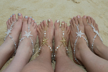 Betty Neve, Footlace, Beach Wedding