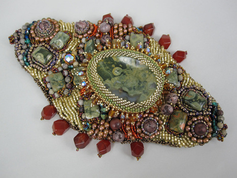 Betty Neve, Gem Amoeba Cuff, Fire Mountain Gems and Beads