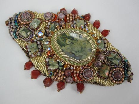 Betty Neve, Gem Amoeba Cuff, Fire Mountain Gems and Beads