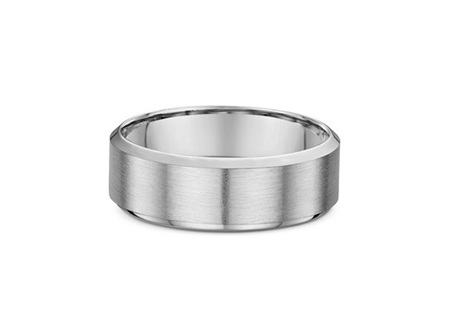 Bevelled Edge Mens Traditional Wedding Ring